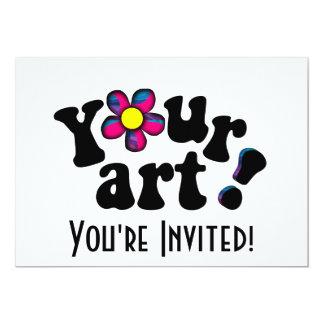 Faites votre propre illustration ou photo faite carton d'invitation  12,7 cm x 17,78 cm