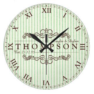 Faites votre propre monogramme d'anniversaire de grande horloge ronde