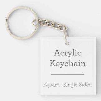 Faites votre propre porte - clé carré porte-clé carré en acrylique une face