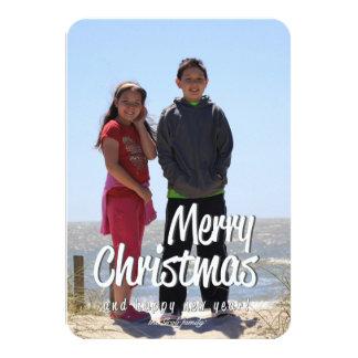 Famille customisée de carte de Noël