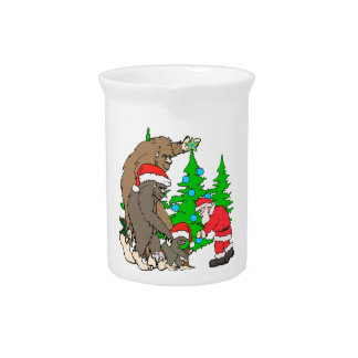 Famille et Père Noël de Bigfoot Pichet