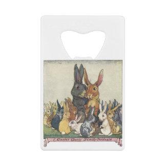 Famille vintage de lapin de Pâques