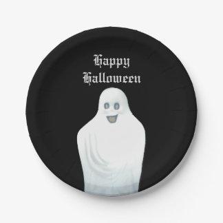 Fantôme heureux Halloween Assiettes En Papier