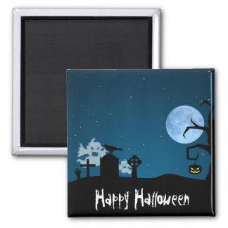 Fantômes de Halloween dans le cimetière - aimant