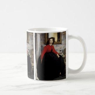 Fard à joues d'en Veste de Portrait de Jeune Femme Mug