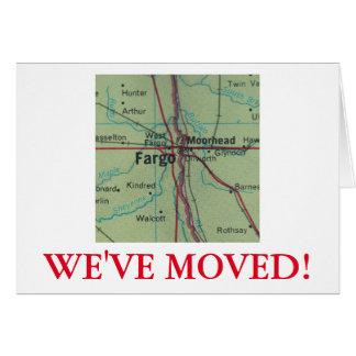 Fargo nous avons déplacé le faire-part d'adresse