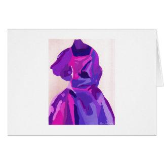 Fashionista de diva dans le bleu carte de vœux