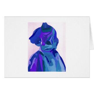 Fashionista de diva dans le bleu I Carte De Vœux
