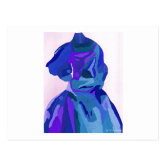 Fashionista de diva dans le bleu I Cartes Postales