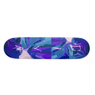 Fashionista de diva dans le bleu skateboards personnalisés