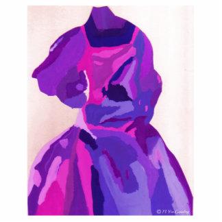 Fashionista de diva dans le bleu découpages en acrylique