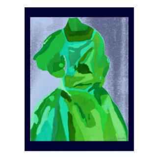 Fashionista de diva en été carte postale