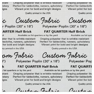FAT fait sur commande QTR de popeline de polyester Tissu