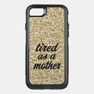 Fatigué comme un cas de téléphone de scintillement coque OtterBox commuter iPhone 8/7