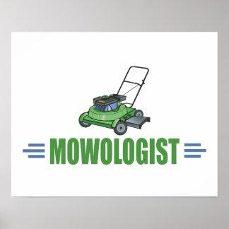 Fauchage humoristique de pelouse affiches