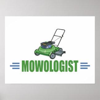 Fauchage humoristique de pelouse posters