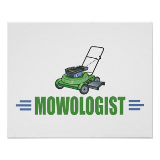 Fauchage humoristique de pelouse poster