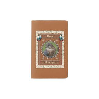 Faucon - couverture de velours de coton de carnet