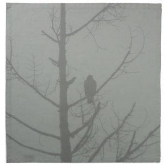 Faucon dans la brume serviettes en tissus
