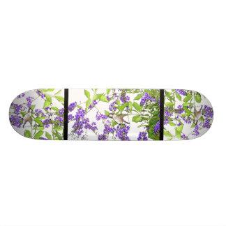 Faune animale d'oiseau de colibri florale plateaux de planche à roulettes