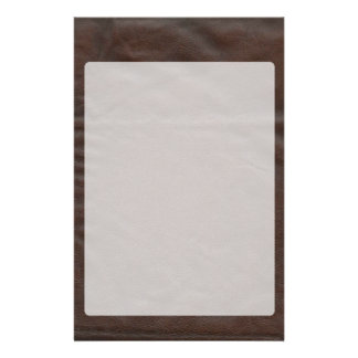 Fausse conception en cuir papier à lettre customisable