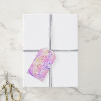 Fausse pierre rose de boussole de lavande étiquettes-cadeau