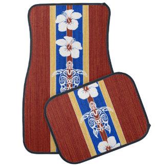 Fausse planche de surf en bois tribale de Honu Tapis De Voiture