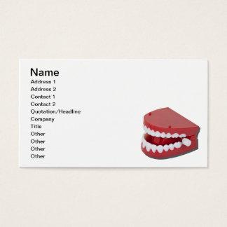 Fausses dents de vibration cartes de visite