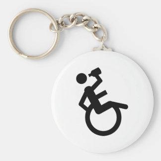 fauteuil roulant de poivrot de fauteuil roulant porte-clé rond