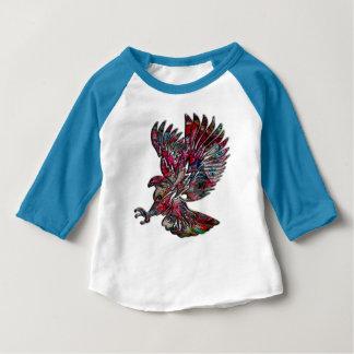 Faux abstrait Eagle tribal métallique T-shirt Pour Bébé