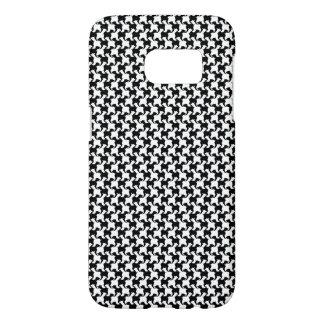 Faux pie-De-poule avec l'affaire 1 de Samsung de Coque Samsung Galaxy S7