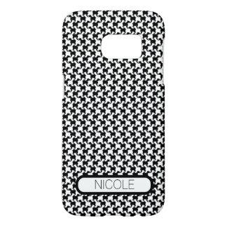 Faux pie-De-poule avec l'affaire faite sur Coque Samsung Galaxy S7