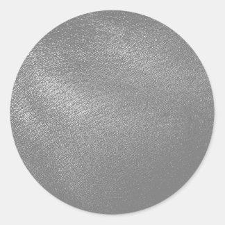 (Faux) simili cuir gris Sticker Rond