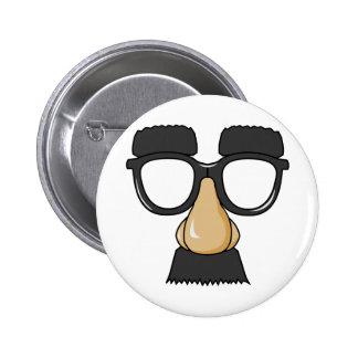 Faux visage de moustache badges avec agrafe