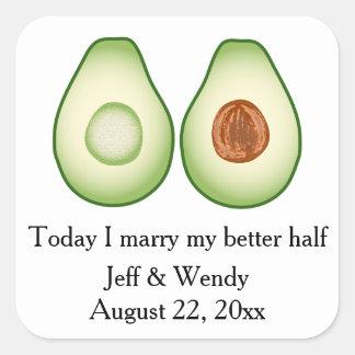 Faveur de mariage d'avocat sticker carré