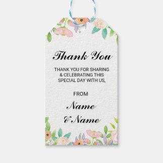 Faveur pour aquarelle de mariage d'étiquette étiquettes-cadeau