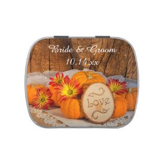 Faveur rustique de mariage de automne de boites jelly belly