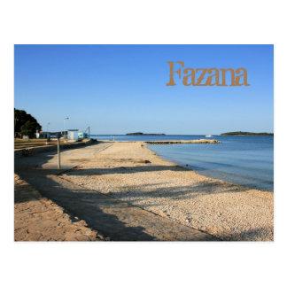 Fazana, la Croatie, la carte de lettre