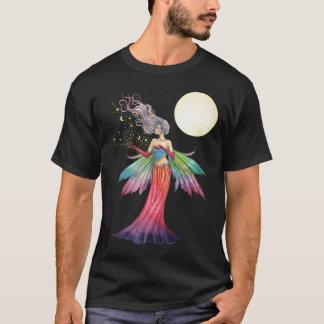 Fée avec les étoiles et le T-shirt de lune