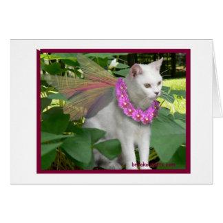 Fée de chat avec le carte pour notes de collier de
