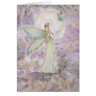 Fée de liberté et carte de voeux de papillon