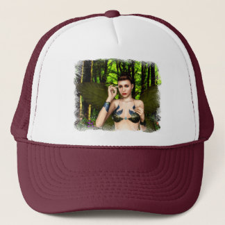 Fée du casquette de clairière de forêt