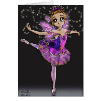 Fée lilas - carte de ballet de beauté de sommeil