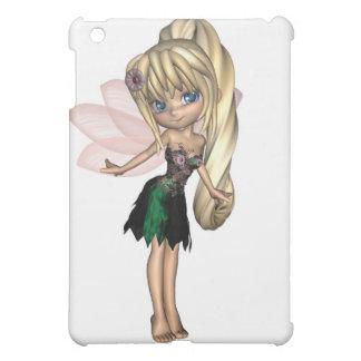 Fée mignonne de Toon dans la robe verte et pourpre Étuis iPad Mini