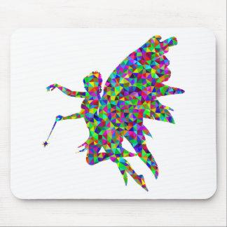 Fée prismatique colorée donnant une baguette tapis de souris