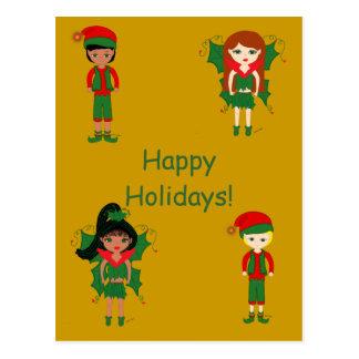 Féeries et carte postale de vacances d'elfes