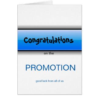 Félicitation sur la bonne chance de promotion de carte de vœux