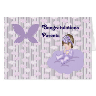 Félicitations à de nouveaux parents de bébé carte de vœux
