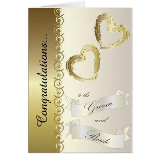 Félicitations à la carte de mariage de marié et de carte de vœux