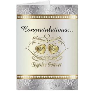 Félicitations à M. et à Mme carte de mariage